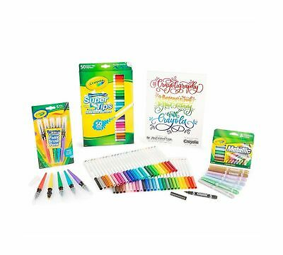 Crayoligraphy Calligraphy Kit, Hand Lettering for Beginners, Gift, 60+PCS