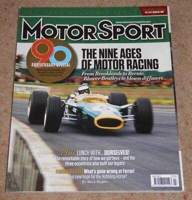 MOTOR SPORT magazine July 2014 - 90th Anniversary issue, Decades in review