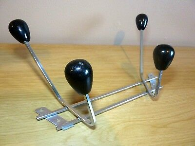 Superb & Rare Vintage AUTORAMA AUTOESQUE Gear Knob / Chrome Coat Hanger c1950s