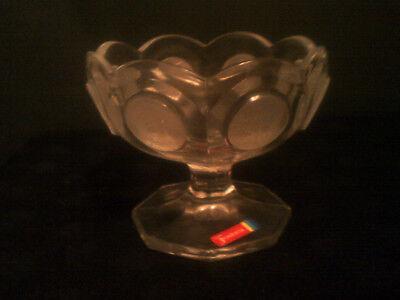 Avon Fostoria Replica Coin Glass ~ Footed Compote Jelly ~ Sellers Award