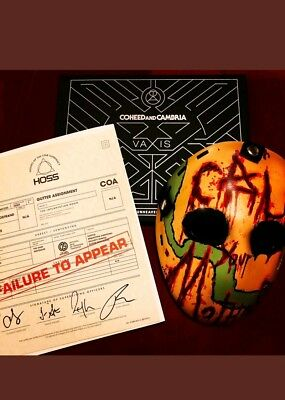 SIGNED COHEED AND CAMBRIA VAXIS 1 THE UNHEAVENLY CREATURES Album BOX SET +  Mask