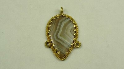 ANCIENT GOLD & BANDED AGATE PENDANT EAST GREEK, 1st MILLENNIUM BC