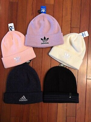 online retailer 58829 48421 NWT adidas Knit Beanie Hat - Embroidered Trefoil - Unisex 7 Colors SHIPS  TODAY