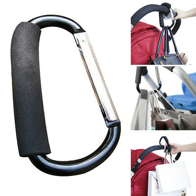 UK Shopping Bag Hooks For Buggy Baby Pram Pushchair Stroller Clips Accessories