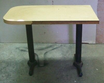 "Restaurant Equipment 29"" Tall TABLE TOP W/ CAST IRON BLACK BASE 43"" long top"