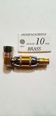 Collectible Tobacco Smoking Pipe With Brass Screen