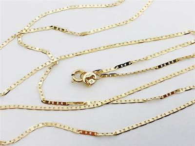 "14K 16"" 1.2mm Solid Yellow Gold Mariner Gucci Anchor Link Necklace Chain 14Kt"