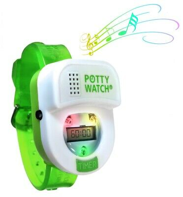 Potty Time Green Watch Toddler Toilet Training Aid~ Authorized Retailer Warranty