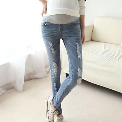 Elastic Waist Maternity Jeans Pants for Pregnancy Clothes Autumn / Winter 2016 N