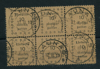 Lithuania  9 Used Block Of 6   All With Full Perfs