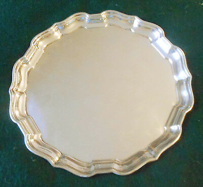 "Vintage Sterling Silver Chippendale Style 10"" Plate / Tray by Birks 470 Grams"