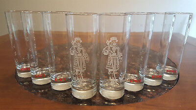 (2) Beefeater Yeoman Etched Glasses & (6) Beefeater London Dry Gin  Glasses