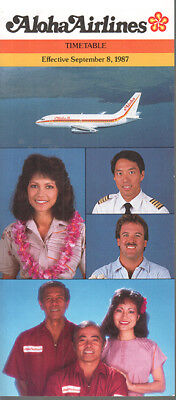 Aloha Airlines timetable 1987/09/08