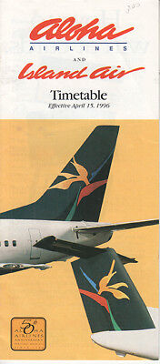 Aloha Airlines timetable 1996/04/15