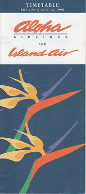 Aloha Airlines timetable 1998/01/12
