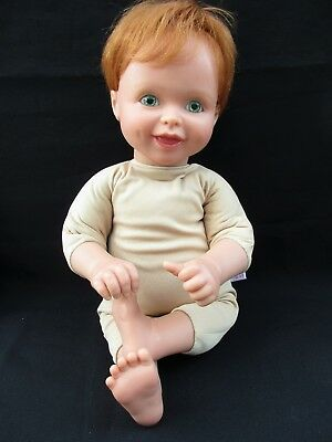 "1999 My Twinn BOY~MALE Doll 19"" Poseable~Red Hair~Bluish Green Eyes~Dimples"