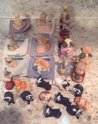 80's Itty bitty world collections Lot and Other Hand Painted Animal Mini Figures