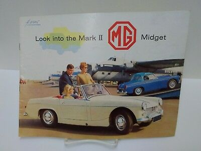 Vintage Original MG MIDGET Mark II Sales Brochure Automobile Car Advertising
