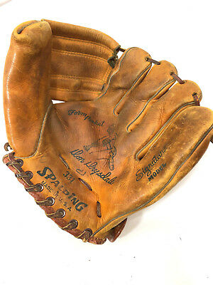 Vintage 1950s Don Drysdale Button Back Spalding Baseball Glove Model 331 *RARE*