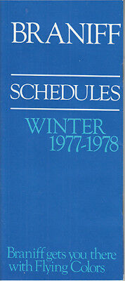 Braniff International timetable 1977/12/01