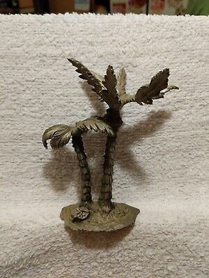 ".8 oz Palm Trees Pewter Figurine Miniatures Fairy Garden Hobby - 5"" Tall"