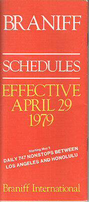 Braniff International timetable 1979/04/29