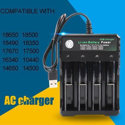 USB Universal 4Slots Smart Battery Charger For 18650 Rechargeable Li-Ion Battery