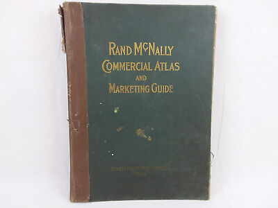 Rand McNally Commercial Atlas Seventy Third Edition 1942 ~ Large Vintage Book