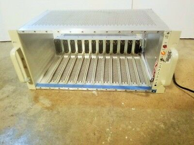 Canberra Model 2100 NIM Bin 12-slot Mainframe with TC 911-6 Power Supply