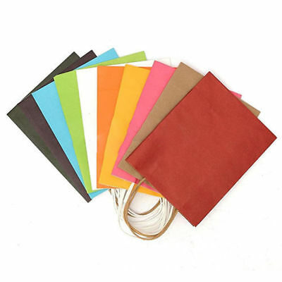 Paper Party Loot Treat Gift Goody Bags 10 Colors Also Popcorn Bags & Boxes