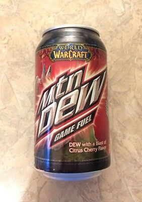 World Of Warcraft Mountain Dew Game Fuel Limited Edition Unopened But Drained