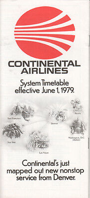 Continental Airlines timetable 1979/06/01