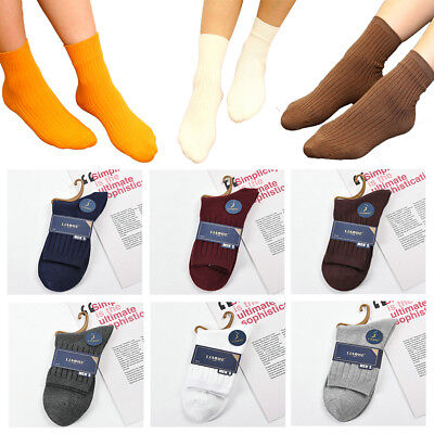 1 Pairs Men Women Winter Warm Ankle Socks Casual Sport Cotton Blend Socks Solid