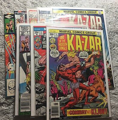 KAZAR THE SAVAGE Marvel Comic Book Lot 8 Issues Total