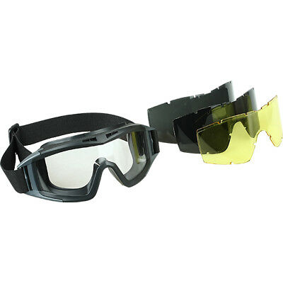 Military Tactical Protective Goggles with Replaceable Filters Kite Anti-fog