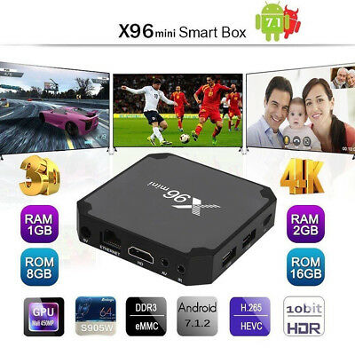 X96 Mini 4K Smart TV Box Android 7.1.2 2GB/16GB 3D HD Wifi Lecteur Multimédia FR