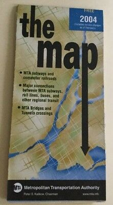 New York City Subway Map February 2004.The Map The Mta New York City Subway Map From February 2004 Never Used