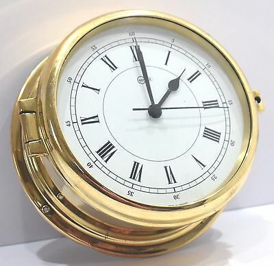 Marine Clock Barigo Yacht Series Ship`s Quartz Nautical Vintage Round Wall Clock