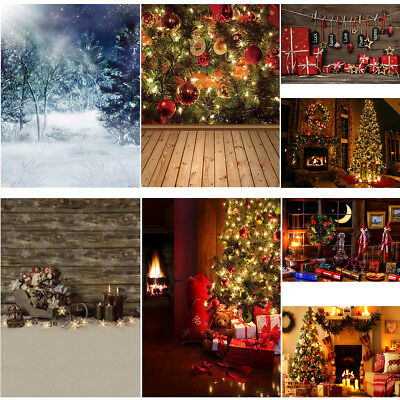 Multi Types Christmas Tree Snow Gift Studio Photography Background Backdrop Prop