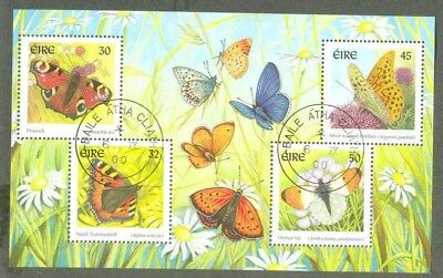 Ireland-Butterflies min sheet-2000 fine used-insects