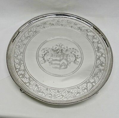 George III Silver Salver by CROUCH & HANNAM London 1786 Stock ID 9231