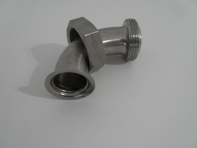 """2"""" RJT Nut &  Liner to 1.5"""" RJT Male 90 degree bend+ Seals Brewery Fitting"""