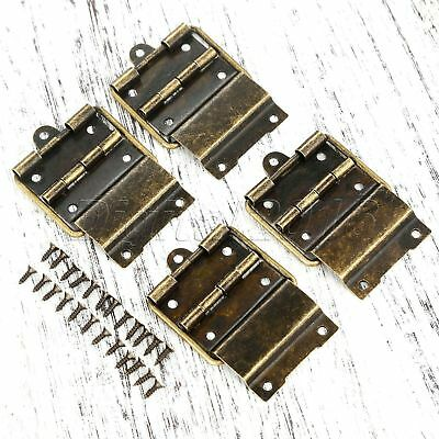 Hot Antique Bronze Jewelry Box Cabinet Chest Positioning Support Hinges 53*34mm
