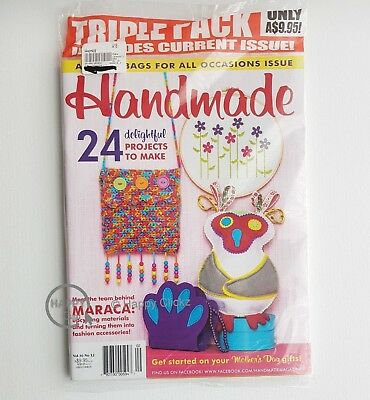 Handmade Magazines Vol 36 / No 10 & 12 issues + Crafty Creatures Magazine