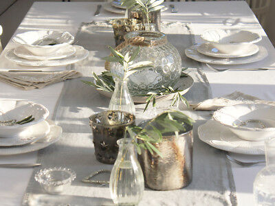 Luxury Vintage French  Grey Table Runner Shabby Chic Christmas Table Wedding