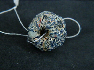 Ancient Mosaic Glass Bead Roman 200 BC #BE5060