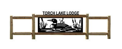 Personalized Loon Signs - Clingermans Outdoor Log Signs