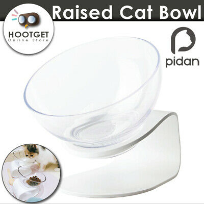 Pidan Raised Cat Food Bowl with Stand Pet Kitten Dog Puppy Water Meal Feeder AU