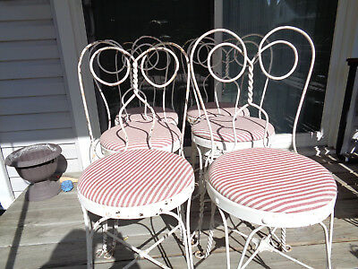 6 vintage antique ice cream parlor chairs
