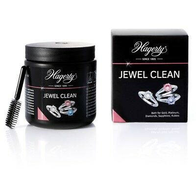 Hagerty Jewel Clean Jewellery Cleaner Dip Bath Gold Diamond Platinum 170ml